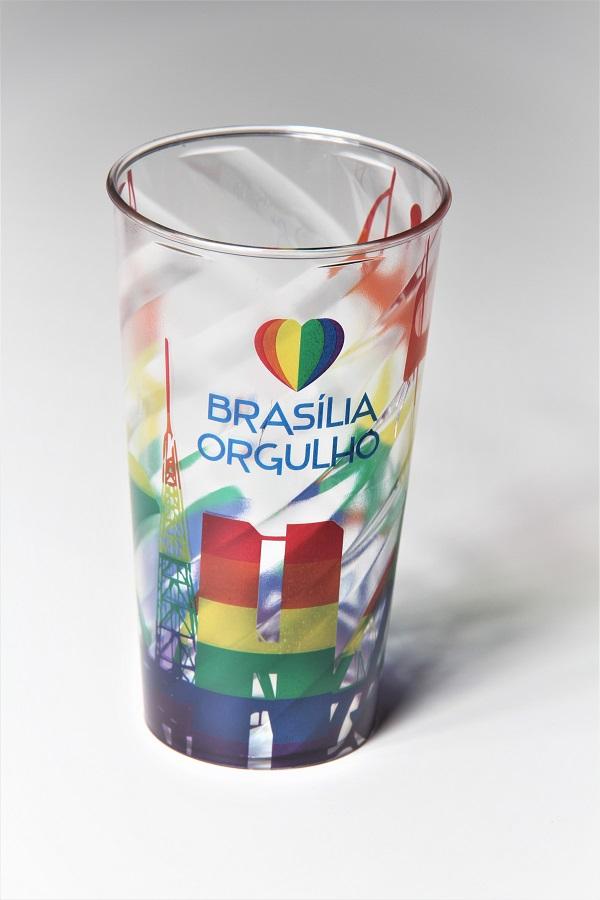 Copo Brasília Orgulho arco-íris