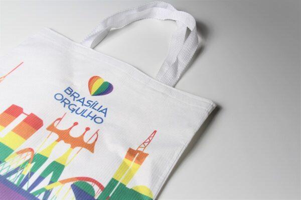 Brasília Orgulho arco-íris ecobag sacola