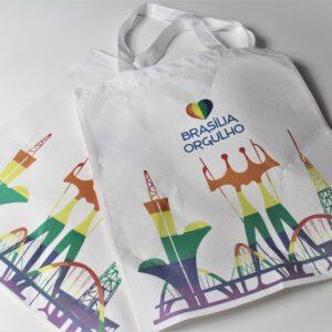 ecobag Brasília Orgulho arco-íris
